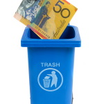 Put Money In Bin Image